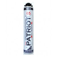 Монтажная пена профессиональная PATRIOT MEGA 65 всесезонная (875 мл)  10001